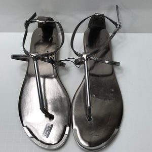 A New Day silver sandals new adjustable strap 9.5